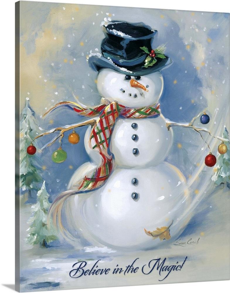 """Canvas Art Print /""""Snowman Magic/"""""""