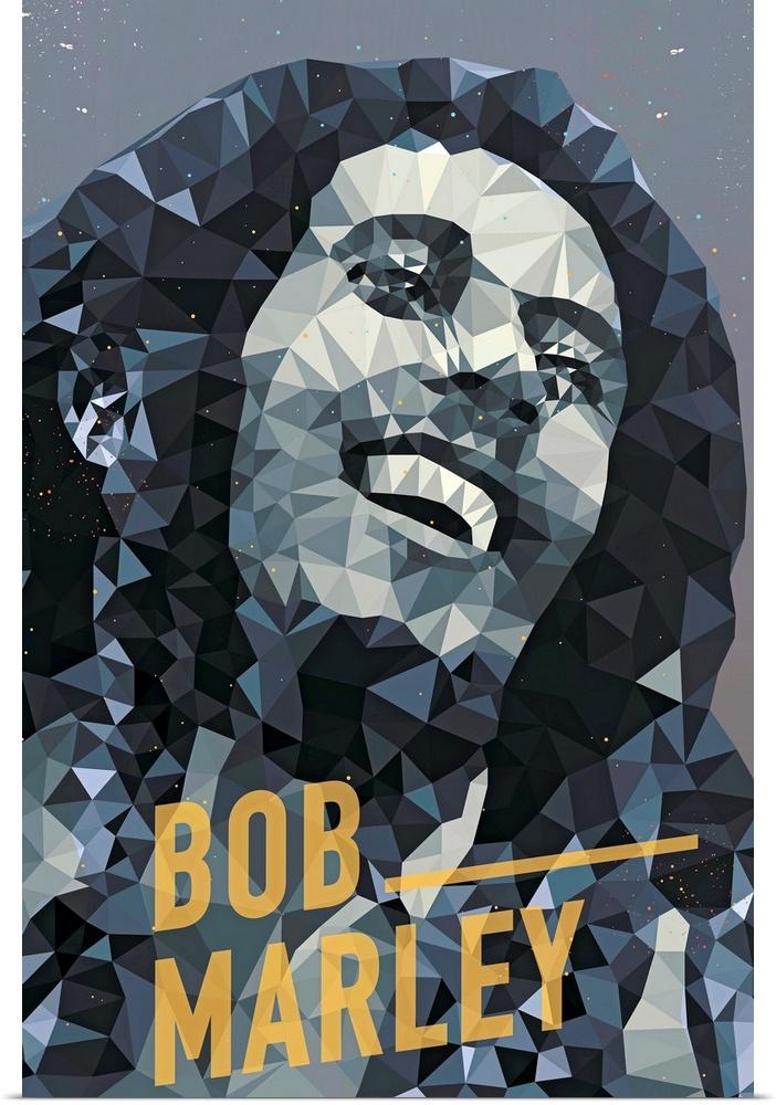 Poster Print Wall Art entitled Bob Marley
