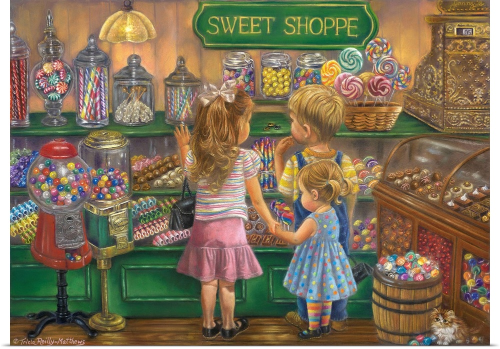 Poster Print Wall Art entitled Candy Heaven