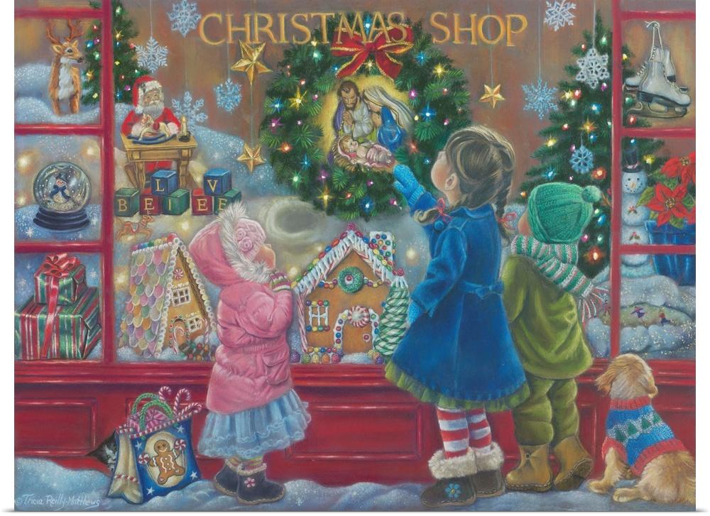 Poster Print Wall Art entitled Christmas Blessings