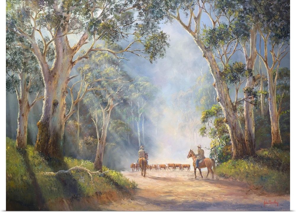 Poster Print Wall Art entitled Early Morning Muster