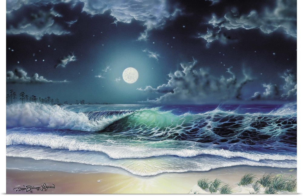 Poster Print Wall Art entitled Enchanted Waters