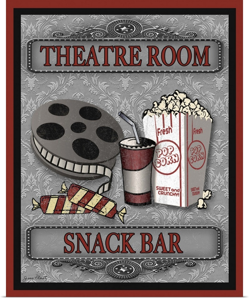 "Theater Room Snack Bar: ""Snack Bar-Movie"" Poster Print"