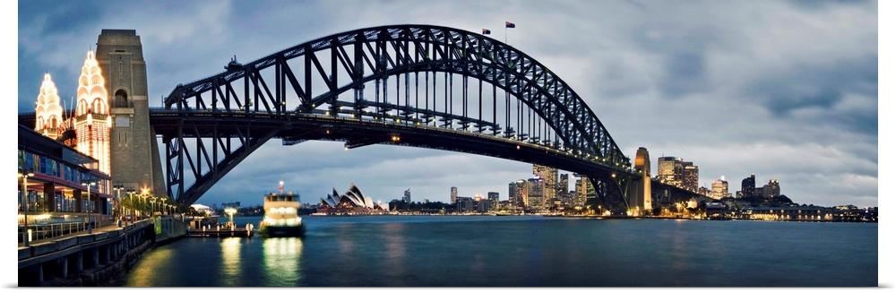 Poster Print Wall Art entitled Sydney Harbour