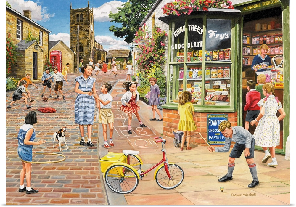 Poster Print Wall Art entitled The Sweet Shop