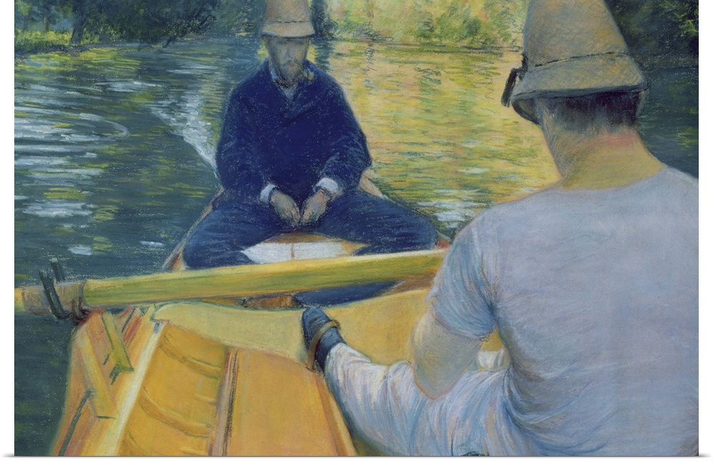 Poster Drucken  Boaters on the Yerres