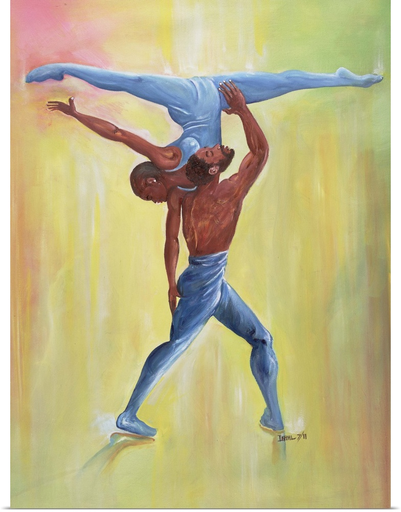 Poster Print Wall Art entitled Dance Couple