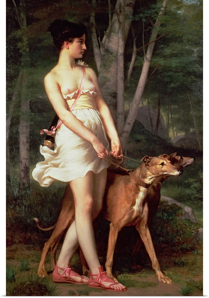 Poster Print Wall Art entitled Diana the Huntress