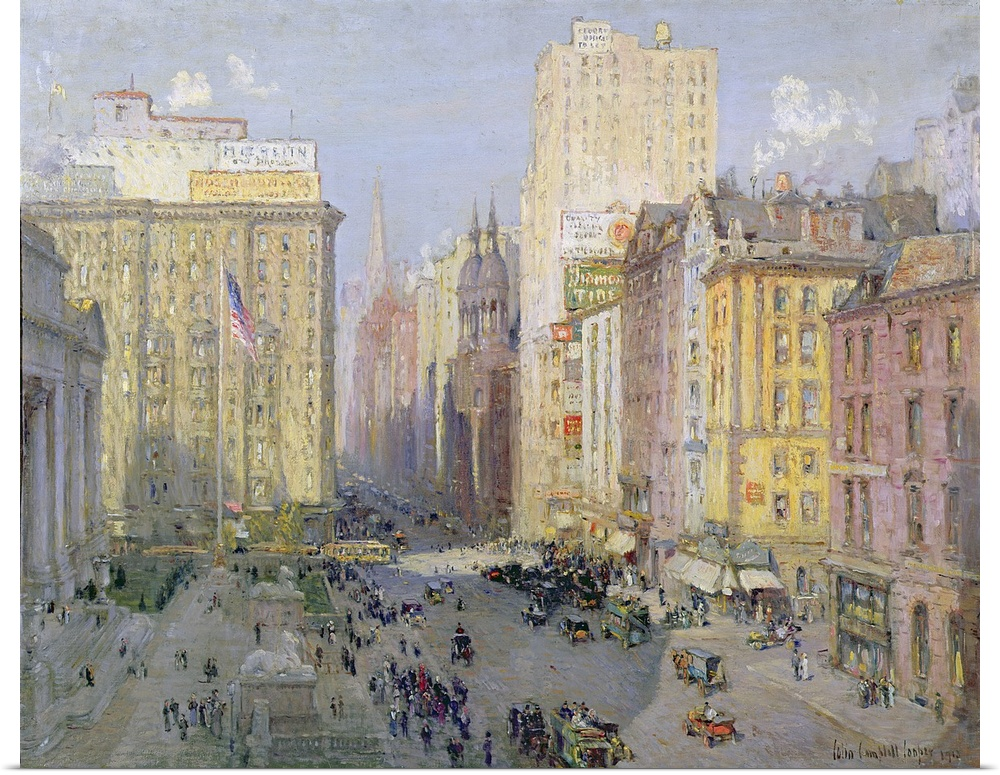 Poster Print Wall Art entitled Fifth Avenue, New York, 1913