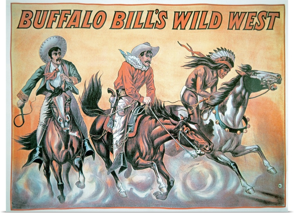 Poster Print Wall Art entitled Poster for Buffalo Bill's (1846-1917) Wild West