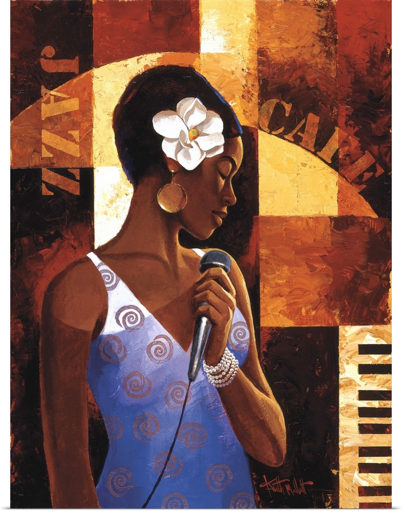 Poster Print Wall Art entitled Jazz Cafe