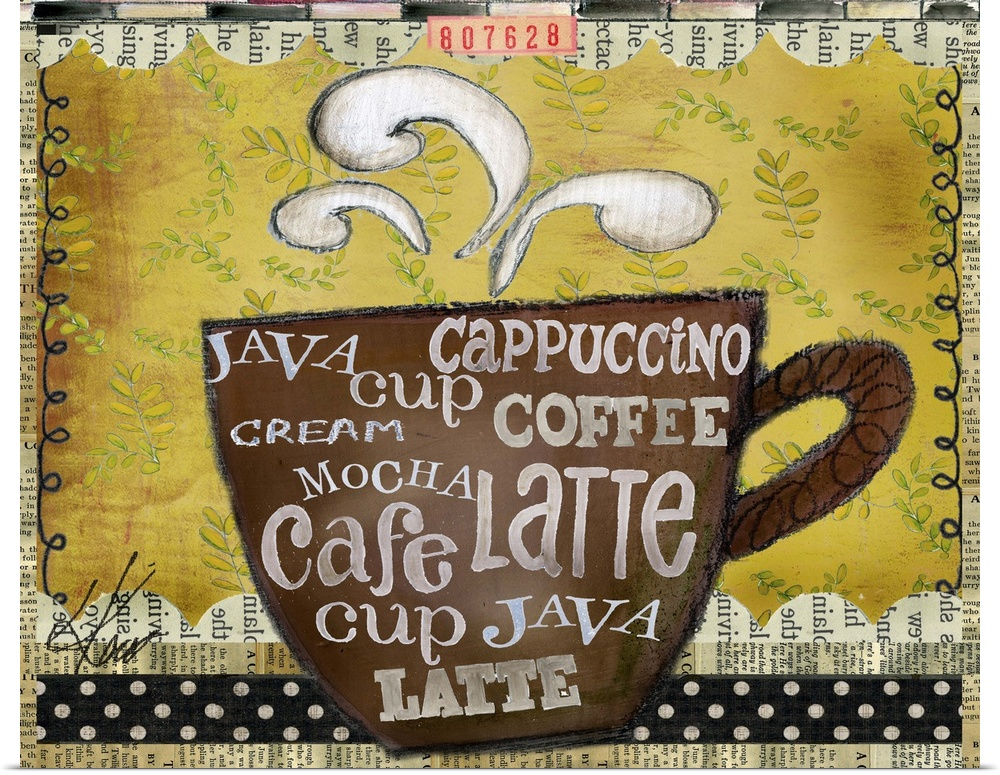 Poster Print Wall Art entitled Coffee Cup