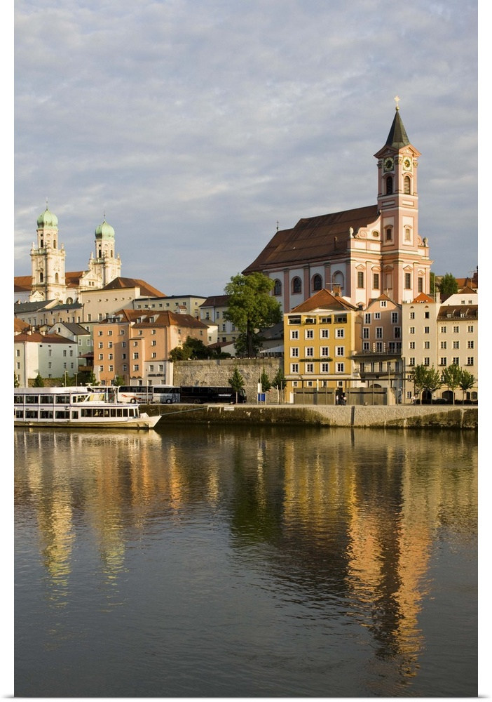 Poster Print Wall Art entitled Germany, Bayern-Passau, Danube River View With