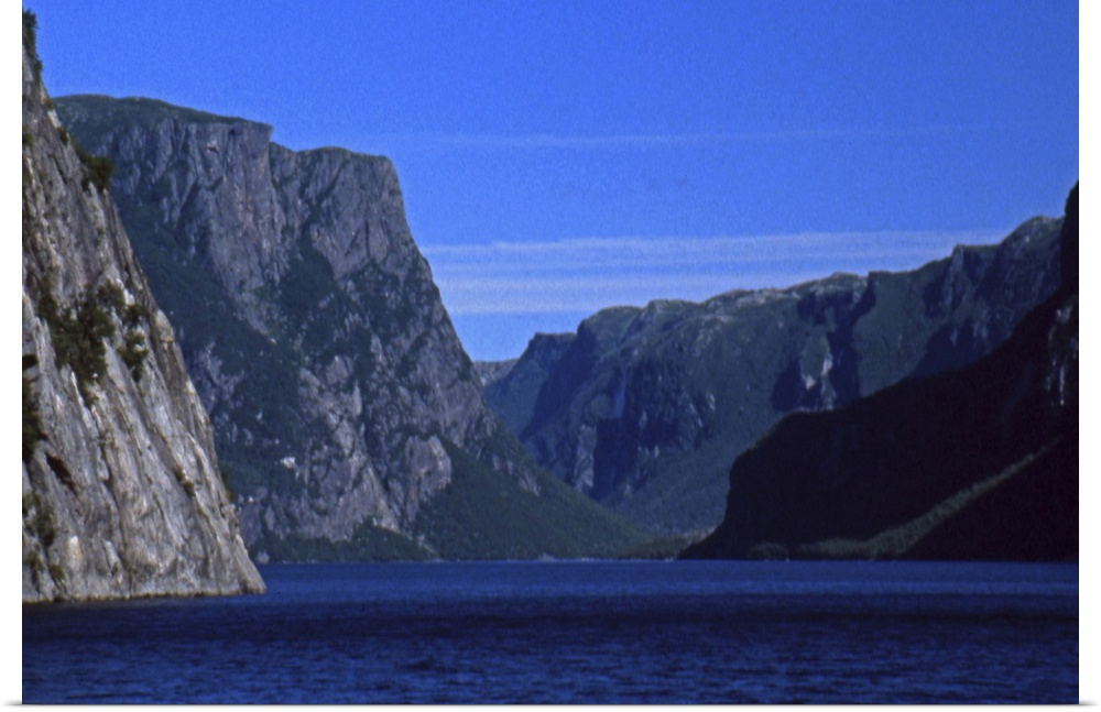 Poster Print Wall Art entitled Newfoundland, Gros Morne National Park, entry to