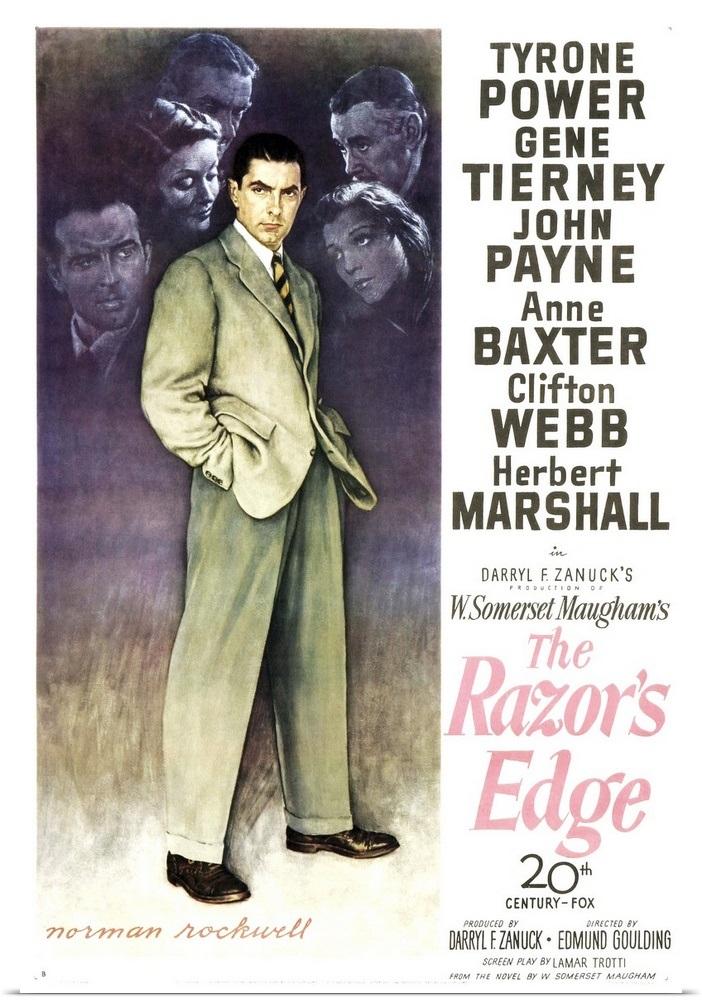 """The Razor's Edge - Vintage Movie Poster"" Poster Print"