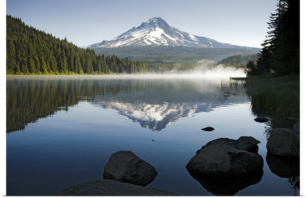 Poster Print Wall Art entitled Mt. Hood in Summer I