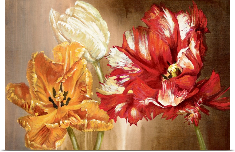Poster Print Wall Art entitled Tulips