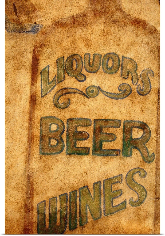 Poster Print Wall Art entitled Alcohol sign