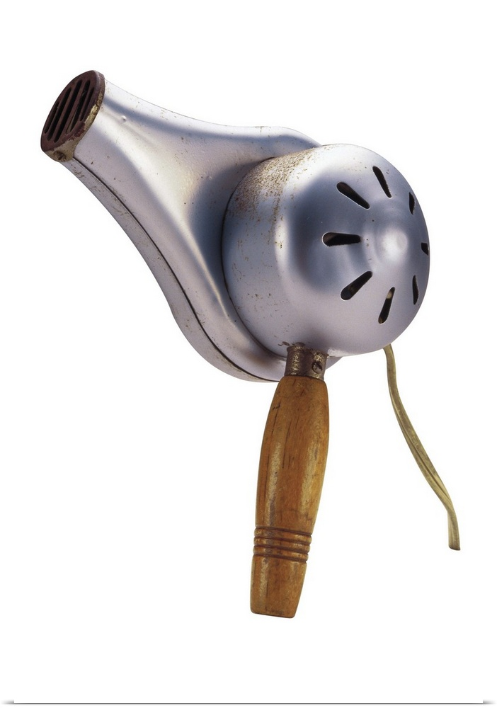 Poster Print Wall Art entitled Antique blow-dryer