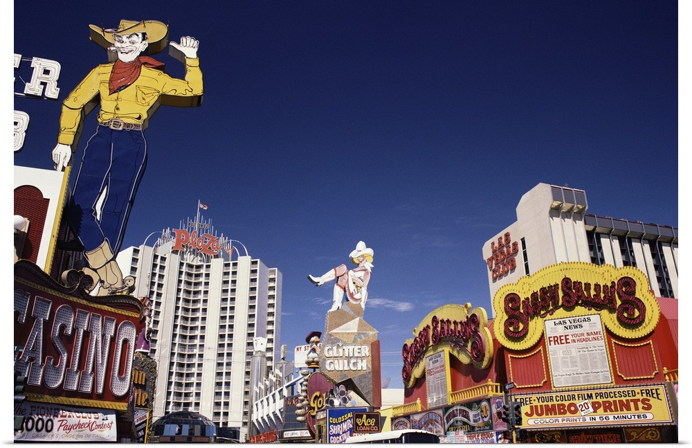 Poster Print Wall Art entitled Casinos and hotels in Las Vegas