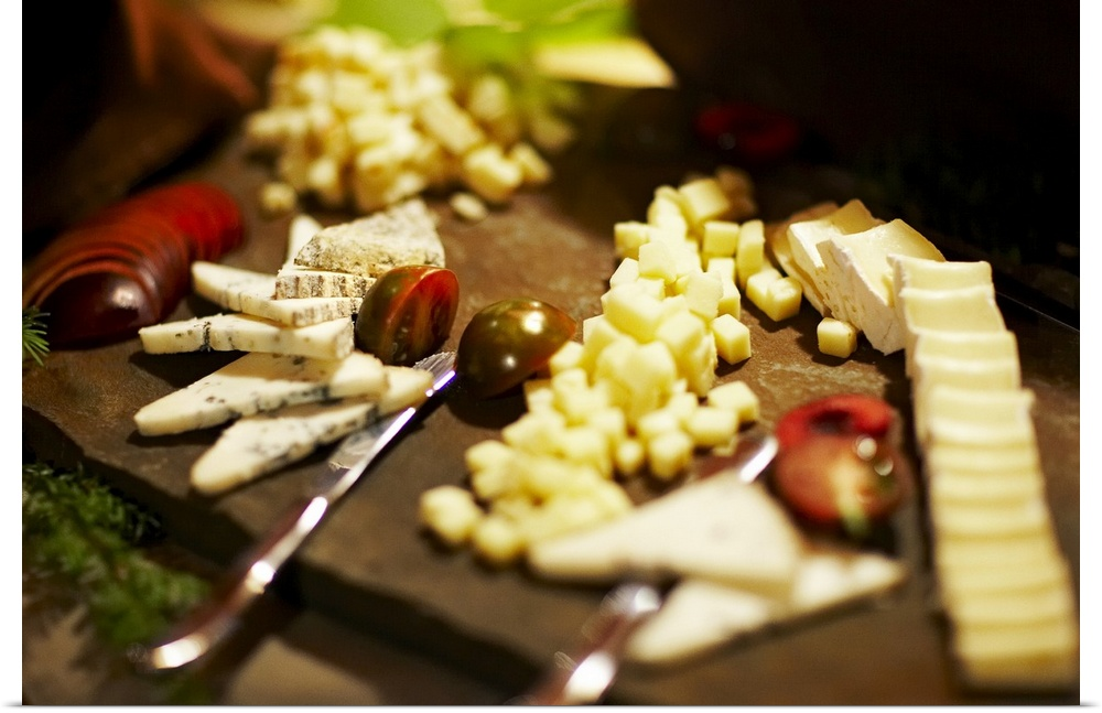 Poster Print Wall Art entitled Cheese appetizer