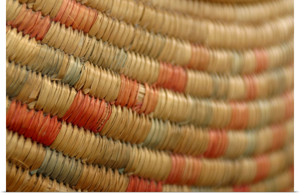 Poster Print Wall Art entitled Close-up of woven basket