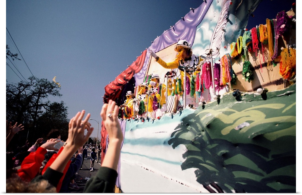 Poster Print Wall Art entitled Mardi Gras parade in New Orleans