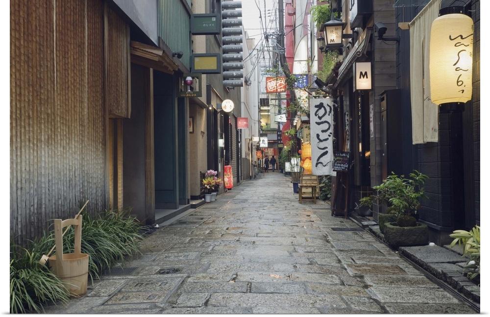 Poster Print Wall Art entitled Street View of Houzenji Row
