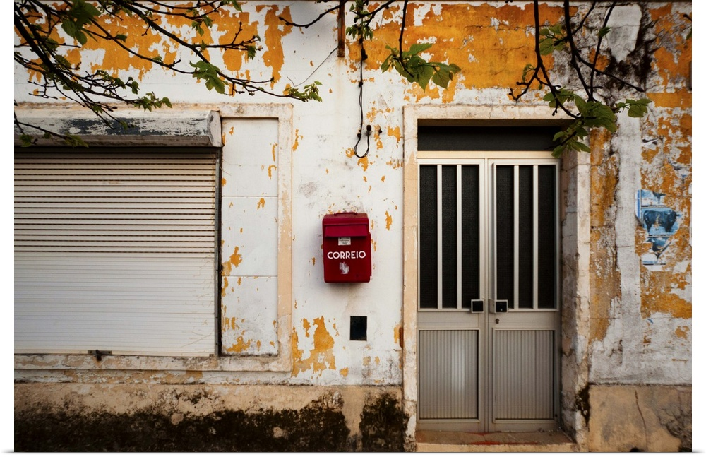 Poster Print Wall Art entitled An old building in the village of Sao Domingos,