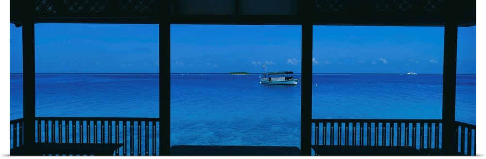 Poster Print Wall Art entitled Boat Maldives