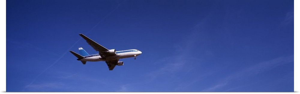 Poster Print Wall Art entitled Boeing 747 airplane in flight