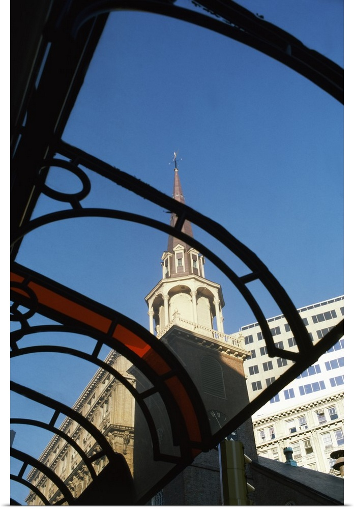 Poster Print Wall Art entitled Buildings in a city, Boston, Suffolk County,