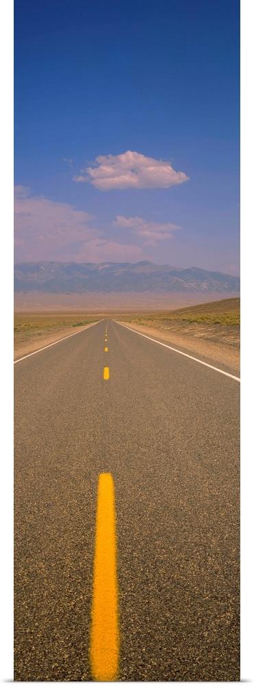 Poster Print Wall Art entitled Desert Highway NV