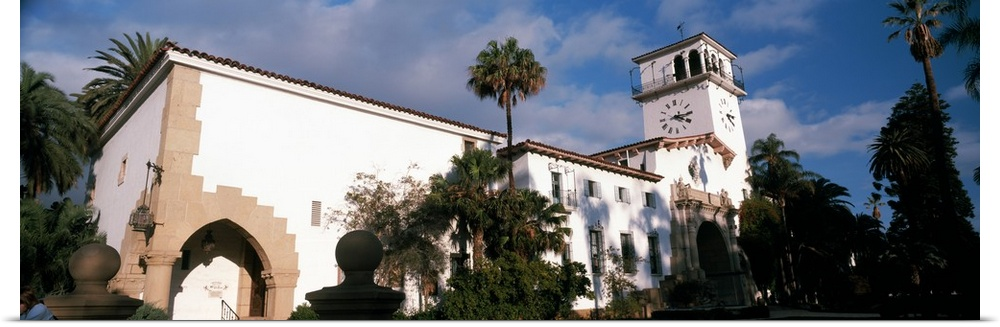 Poster Print Wall Art entitled Low angle view of a courthouse Santa Barbara