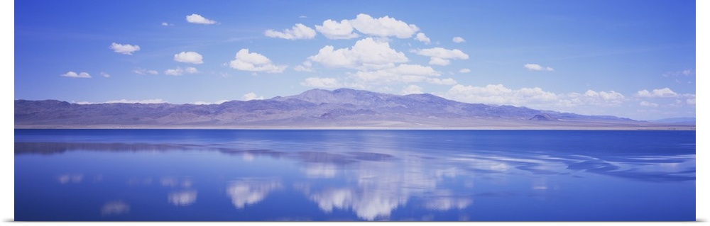 Poster Print Wall Art entitled Reflection of clouds in a lake, Walker Lake,