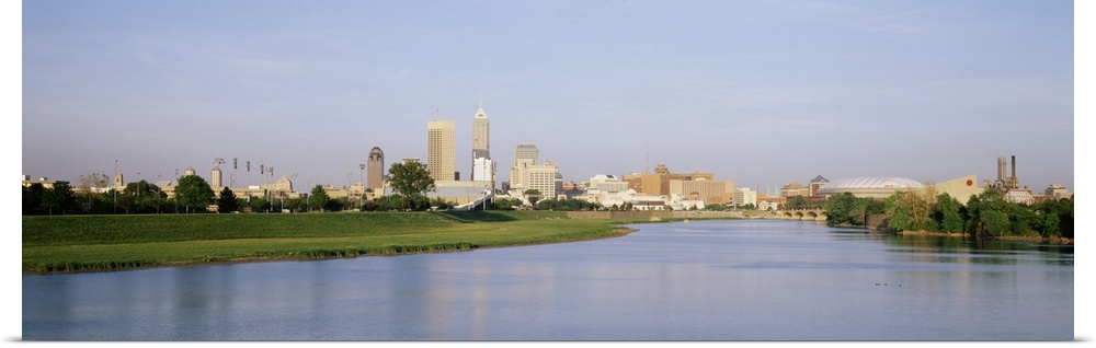 Poster Print Wall Art entitled Skyline Indianapolis IN