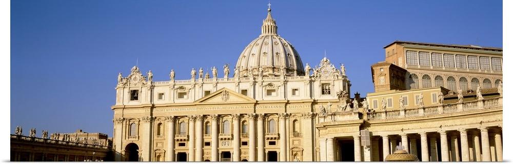 Poster Print Wall Art entitled St Peters Basilica Vatican City Rome