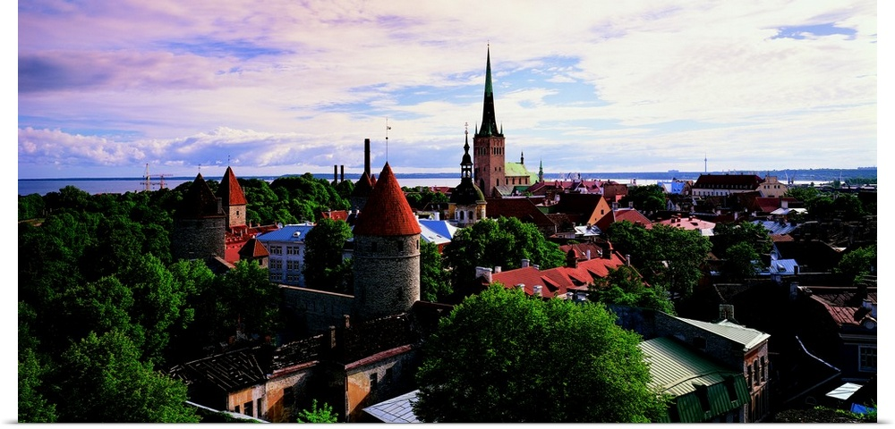 Poster Print Wall Art entitled Tallinn Estonia