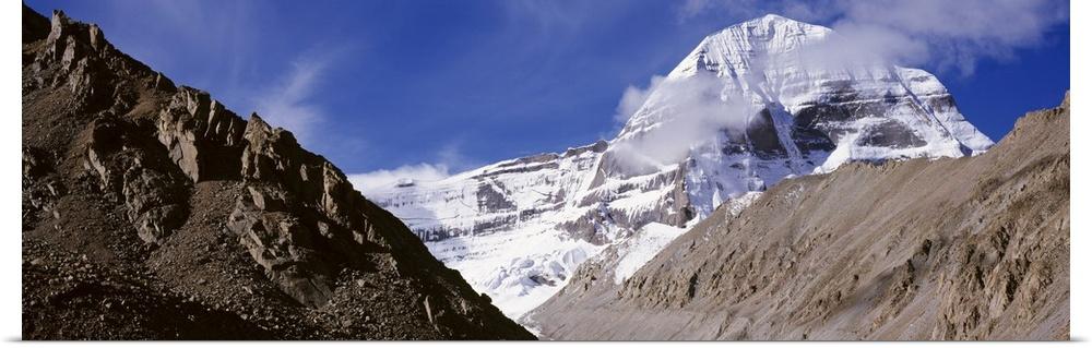 Poster Print Wall Art entitled Tibet, Mount Kailash, mountain