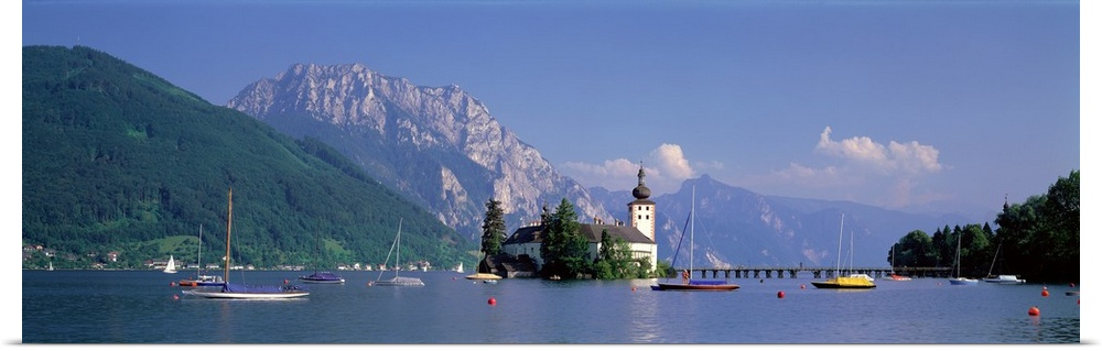 Poster Print Wall Art entitled Traunsee Lake Gmunden Austria