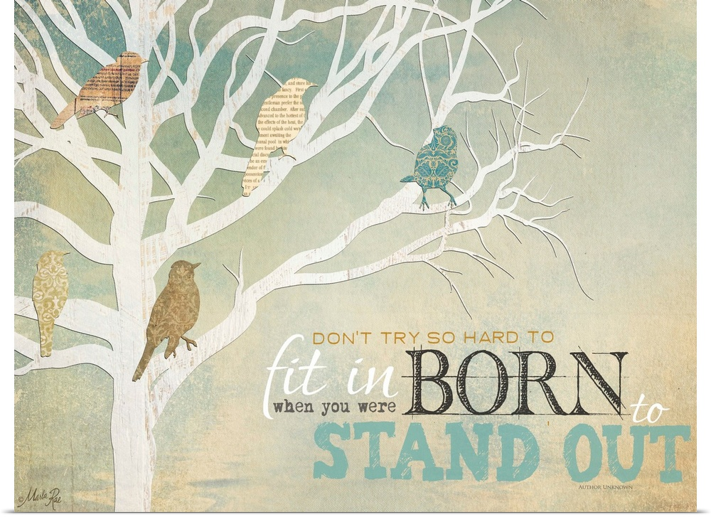 Poster Print Wall Art entitled Born to Stand Out