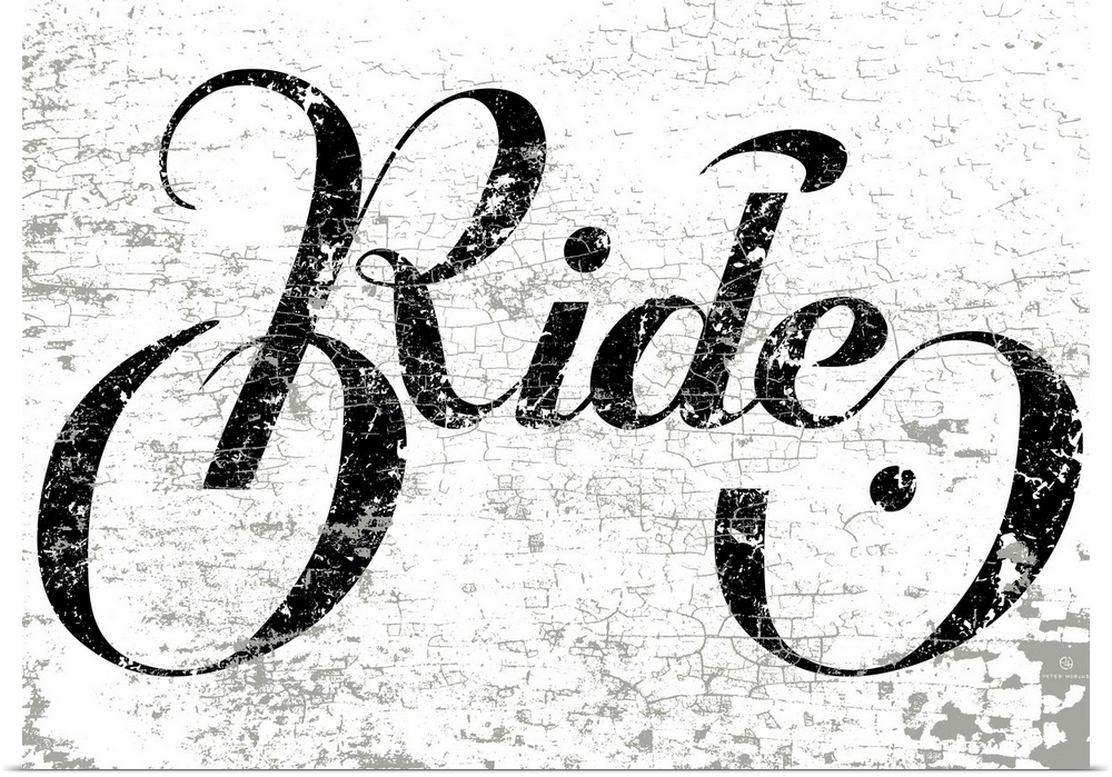 Poster Print Wall Art entitled Ride