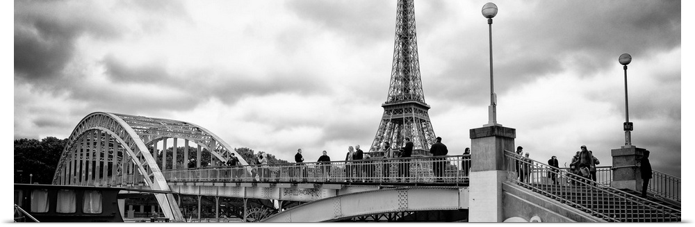 Poster Print Wall Art entitled Bridge of Paris II
