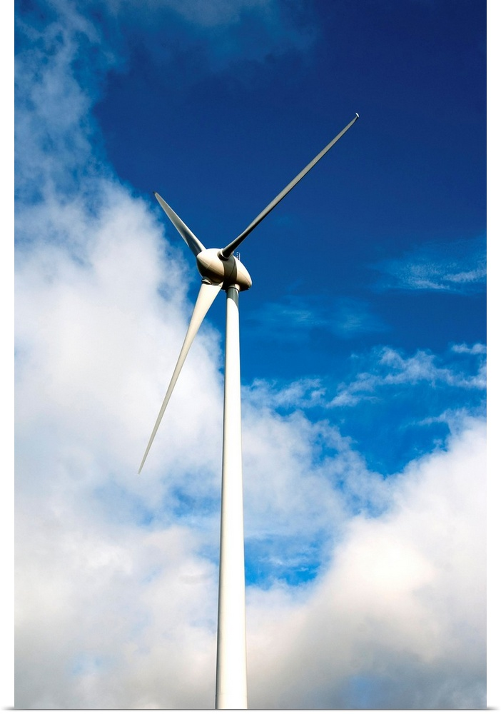 Poster Print Wall Art entitled Wind turbine