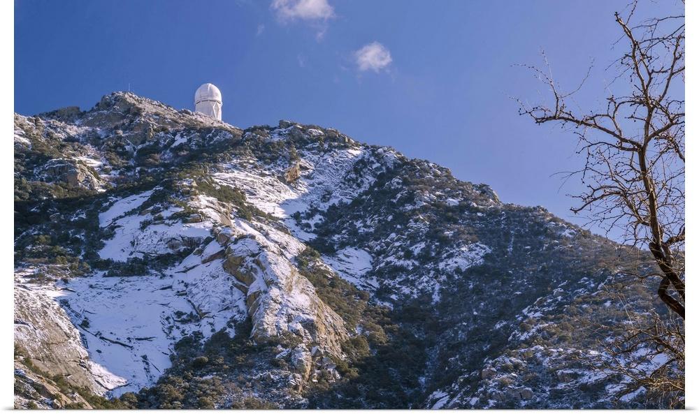 Poster Print Wall Art entitled The Mayall Observatory atop Kitt Peak near