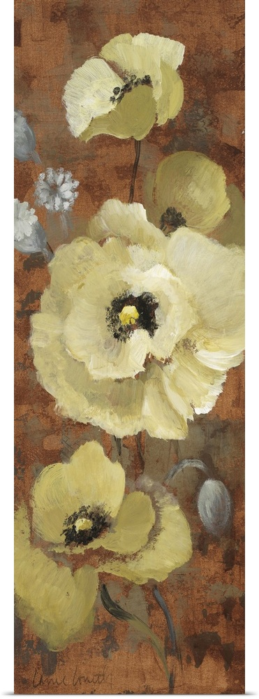 Poster Print Wall Art entitled Autumn Poppies II