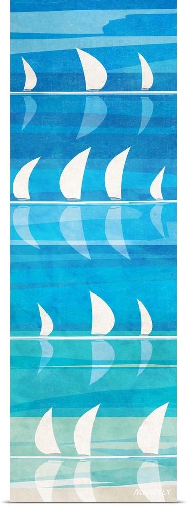 Poster Print Wall Art entitled Cloudscapes II
