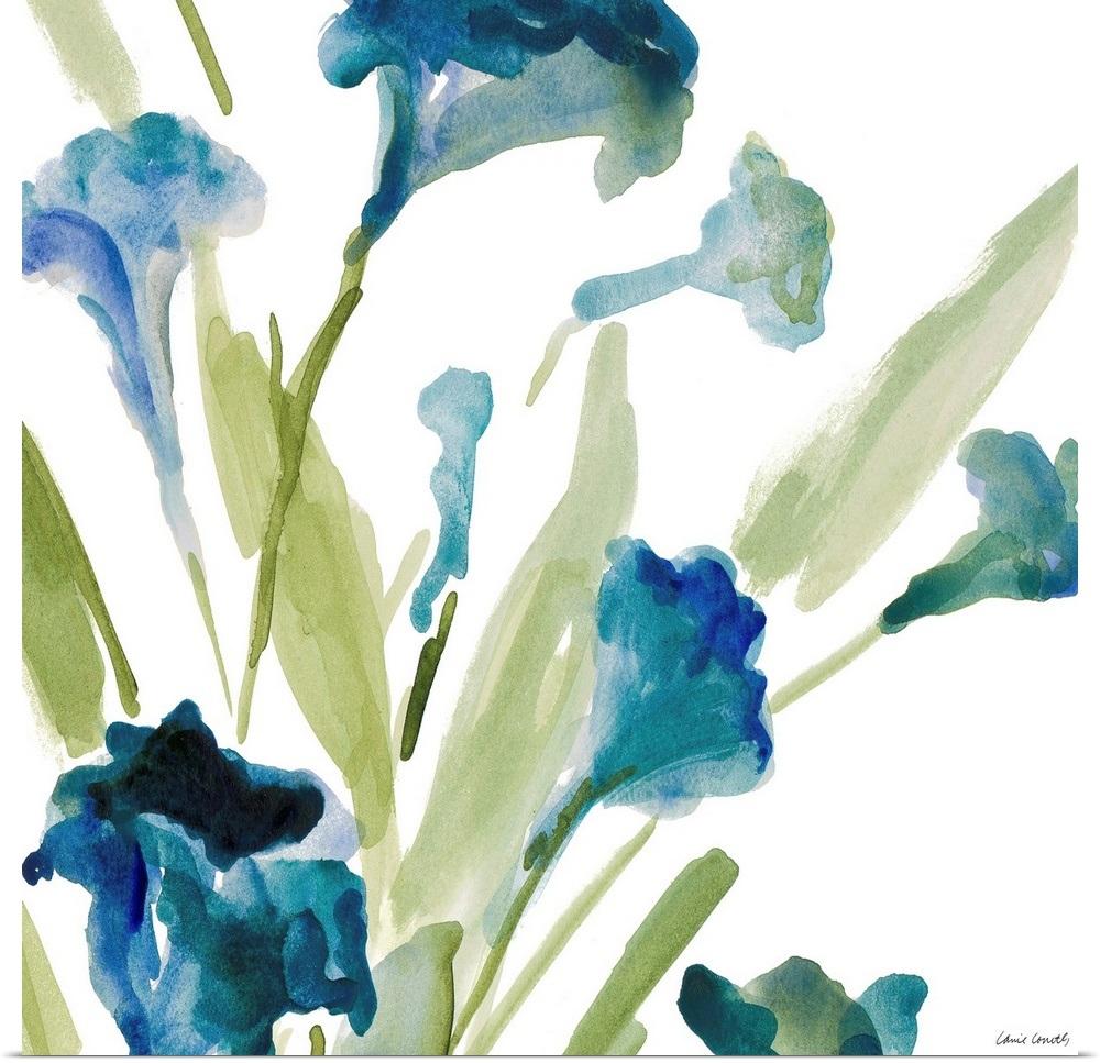 034-Teal-Belles-Square-II-034-Poster-Print miniature 6