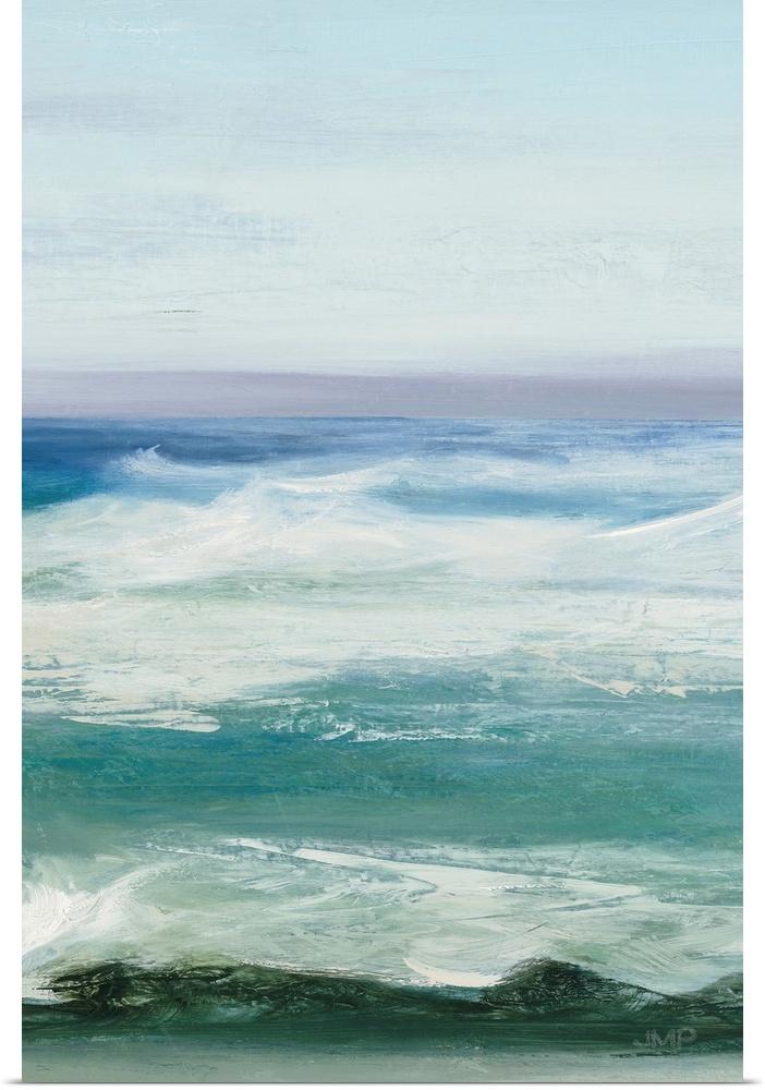 Poster Print Wall Art entitled Azure Ocean III