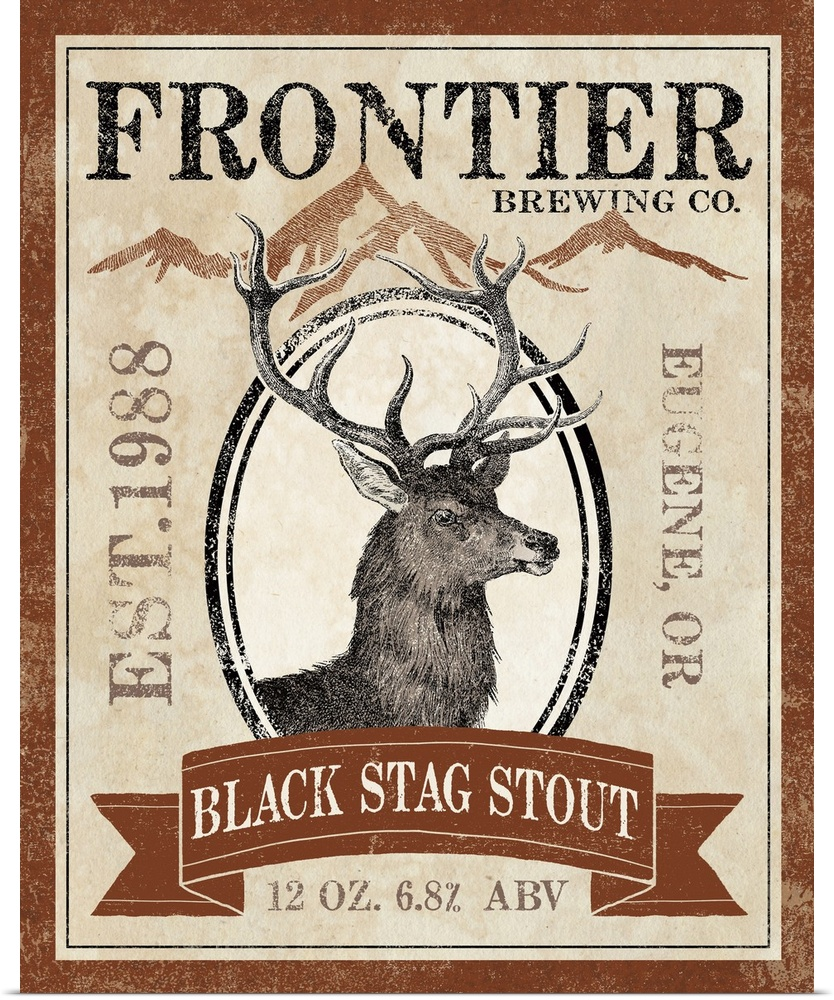 Poster Print Wall Art entitled Frontier Brewing I